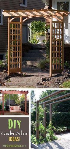 DIY Garden Arbor Ideas!  Learn how to build a simple garden arbor!
