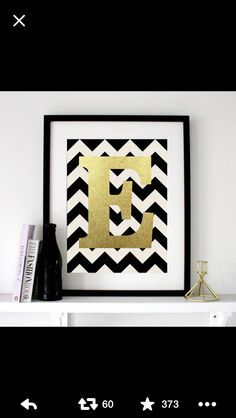 Chevron letters in a frame