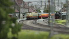 Model Railway about the Rhinegold and TEE Trans Europe Express