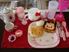 ♚◊ - Hello Kitty by 'Sanrio'♥ - ◊♚ Hello Kitty food. . .breakfast. . .dishware. . .kawaii