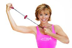 Getting fitter arms with my new pink Spin Gym.
