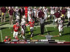 2012 Clemson vs Va Tech Football Game