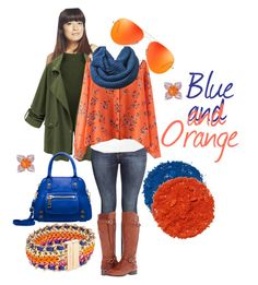 """Blue and Orange"" by cirlylocks ❤ liked on Polyvore featuring Wet Seal, Gemvara, H&M, Fat Face, Naturalizer, Linea Pelle, Vera Bradley, Illamasqua, women's clothing and women's fashion"