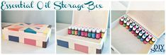 Painted Storage Box Craft from Michaels It's perfect for storing 70 15ml Young Living essential oils (more if you're mixing in 5 ml sizes). Great idea for incentives, prizes or gifts – and YOU customize it to coordinate with your home.