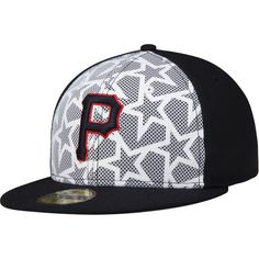 Pittsburgh Pirates New Era Stars & Stripes 59FIFTY Fitted Hat - White/Navy - $37.99