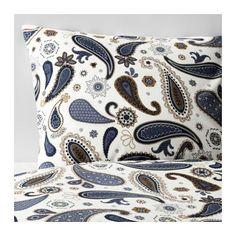 SÖTBLOMSTER Bettwäscheset, 2-teilig IKEA Verdeckte Druckknöpfe am Bezug verhindern, dass die Decke herausrutscht.