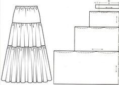юбка многоярусная выкройка — Рамблер/картинки