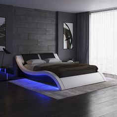 Orren Ellis Lafever Upholstered Sleigh Bed & Reviews | Wayfair Dream House Interior, Dream Home Design, Home Interior, House Design, Interior Design, Luxury Home Designs, Contemporary Bedroom, Modern Bedroom, Bedroom Decor