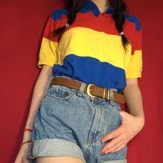 4797b46d22 Basic Colors, Cute Korean, Yellow Stripes, Future Fashion, American Apparel,  Korean. Depop