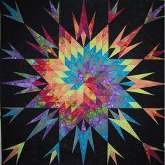 Lone Star Quilt Pattern | Spiral Lone Star