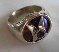 Ring - Atlantischer Halbmond Weissgold