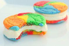 homemade ice cream cookie sandwiches