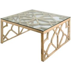 Braxton Coffee Table, glass & Wood, Joss & Main: $324.95, retail $585.00
