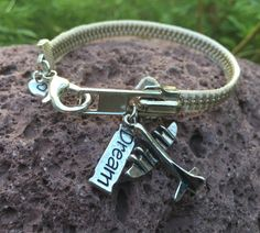 Zipper Bracelet with Charms by AllintheJeans on Etsy