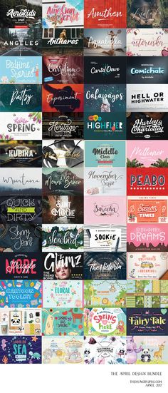 Check out the new April 2017 bundle! Packed full of over 37 fonts and 13 bumper graphics packs, you don't want to miss it!