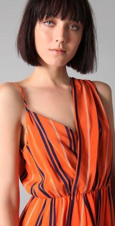 Rebecca Minkoff long striped Delhia dress