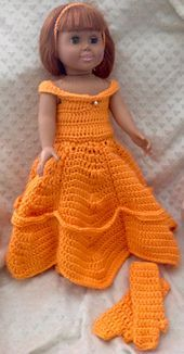This pattern is a Belle Doll costume for 18 inch Dolls. The pattern is written…