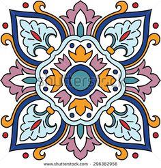Vector seamless ornamental tile background. Italian style