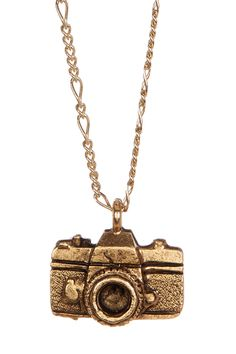 Little Gold Camera Necklace By ShopJami.com