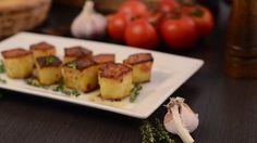Fried potato fondant, delish food with herbs, footage Free Stock Video, Fried Potatoes, Fondant, Sushi, Delish, Fries, Herbs, Baking, Ethnic Recipes