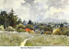 Spring Meadow by Marie Gabrielle
