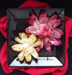Easy Onion Flowers by onceuponacuttingboard #Onions