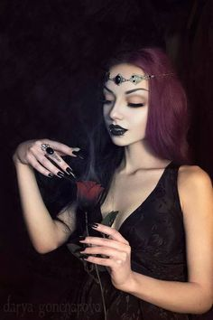 "gothicandamazing: ""  Circlet & Ring: Mystic Thread 💜 Photo/ Model/ MUA: Darya Goncharova Welcome to Gothic and Amazing 