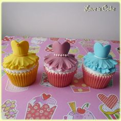 Disney Princess Cupcake Dresses