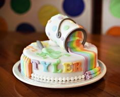 Paint My World Rainbow Cake