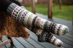 Cozy Socks, Thick Socks, Ankle Socks, Knitting Socks, Leg Warmers, Arts And Crafts, Wool, Crochet, Blogg
