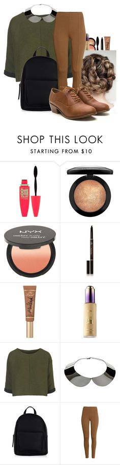 """""""Exposed"""" by cheyleexox ❤ liked on Polyvore featuring Maybelline, MAC Cosmetics, NYX, Anastasia Beverly Hills, Too Faced Cosmetics, tarte, Topshop, New Look and H&M"""