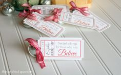 Polar Express Bell Favors & Printable Tags - The Crafted Sparrow