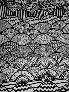 Zentangle design sketch, doodle. By Allison Santana, it is a great way of making…
