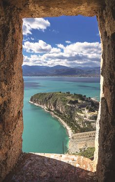 Natural #door with a beautiful view over the sea... Nafplio, #Greece