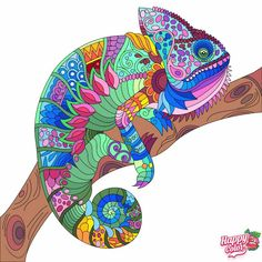 Coloring Book App, Coloring Apps, Adult Coloring, Colouring, Color Games, Prehistoric Animals, Art Pages, Stained Glass Patterns, Mandala Coloring