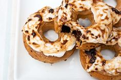 Peanut Butter Fluff Donuts. What a dynamic duo. We think yes. #NationalDonutDay