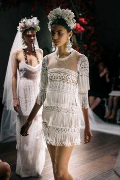 27 Playful Fringe Wedding Dresses | HappyWedd.com #PinoftheDay #playful #fringe #wedding #dress #WeddingDress