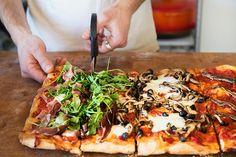 Wild Greens and Sardines : Bonci Pizza -- Roman-Style
