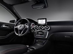 the new a-class no more hand brake or gear shift lever! now thats innovative! vents are just cool...