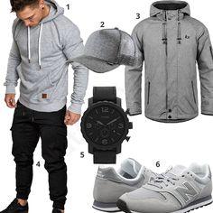 Hellgrau-Schwarzes Street-Style für Männer (m0793) #hoodie #jacke #fossil #amacisons #outfit #style #fashion #ootd #herrenmode #männermode #outfit #style #fashion #menswear #mensfashion #inspiration #menstyle #inspiration