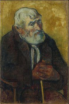 Paul Gauguin (1848 – 1903). Old Man with a Stick, 1888, Oil on canvas, 70 x 45 cm. Le Petit Palais, Musée des Beaux-Arts de la Ville de Paris.