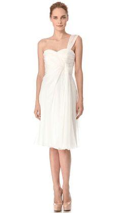 Alberta Ferretti Collection | One Shoulder Cocktail Dress #albertaferretticollection #cocktail #dress