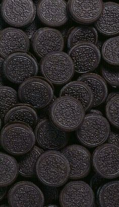 Chocolate sandwich cookies, or Oreo look alike, wallpaper background lock screen for android cellphone iPhone