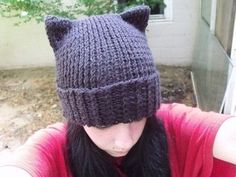 How to make an animal hat. Knitted Cat Hat - Step 5 and like OMG! get some yourself some pawtastic adorable cat apparel!