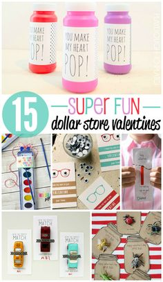 15 Super Fun Dollar Store Valentines! Great ways to make affordable valentines for the whole class! #valentinesday #teachertips #playdoughtoplato