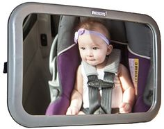 Baby Back Seat Mirror for rearfacing car seat Protect your newborn or infant provides safety no need to turn head Easy to install Large full view 1025x6 Pivots 360 FREE Babycare eBook 60 day money back guarantee *** Check out the image by visiting the link.