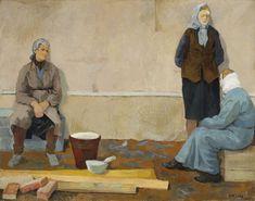 """Aleksander Kobzdej, """"Ceglarki"""", 1950, olej na płótnie, 133 x 169 cm, wł. Muzeum Narodowe w Warszawie, fot. MNW"""