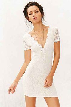 Keepsake Run The World Lace-Top Shift Dress - Urban Outfitters