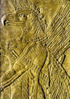 Gênio alado, Arte assíria, Museu do Louvre, Paris.