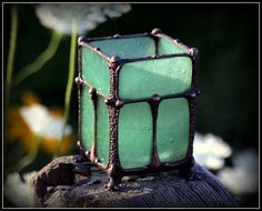 Mission style stainedglass candle holder by NorthernHorizons, $95.00